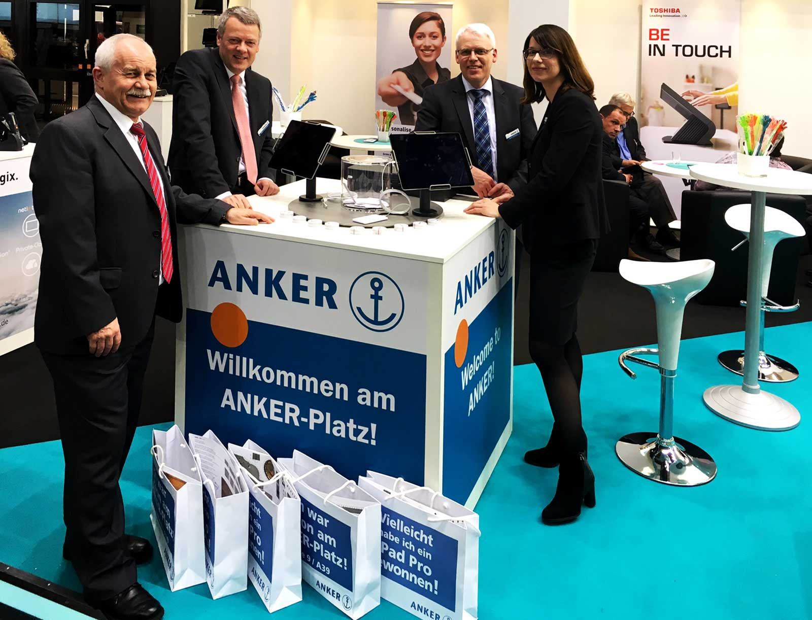 Messestand Anker
