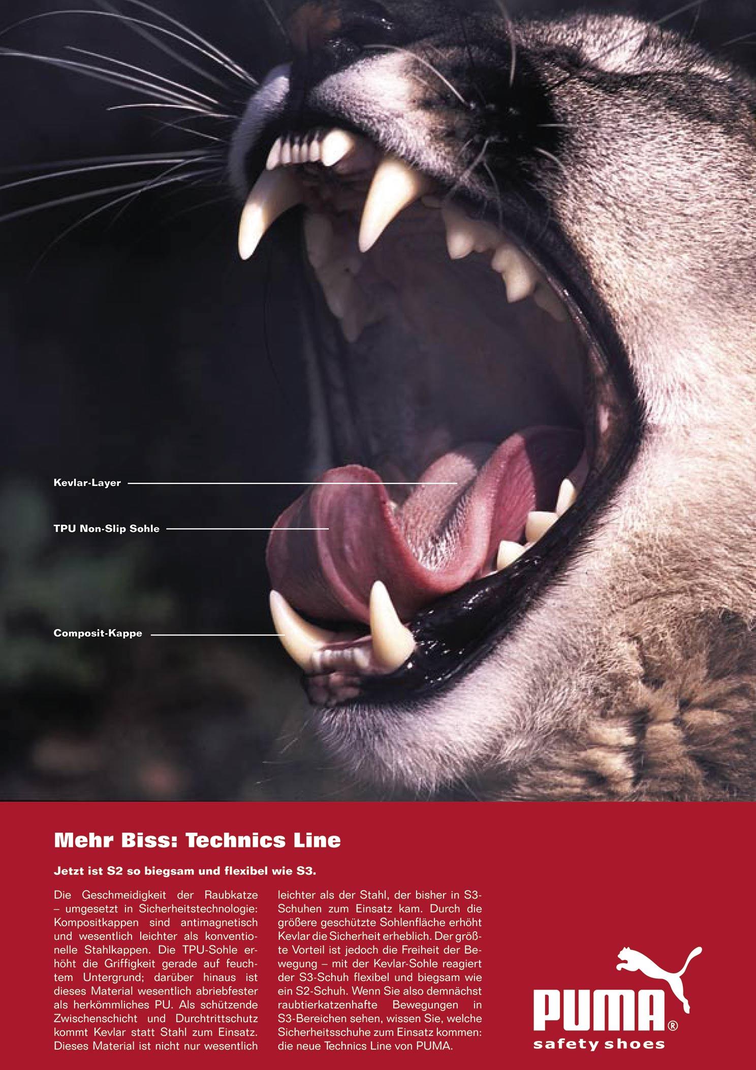 Lizenzmarke Puma: Messekampagne
