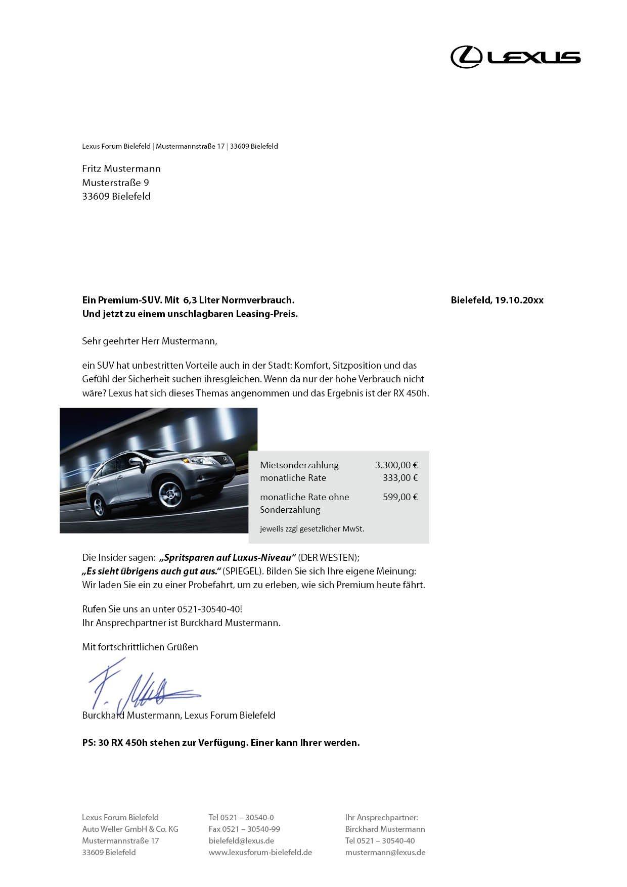 BtoC: Direct Mailing