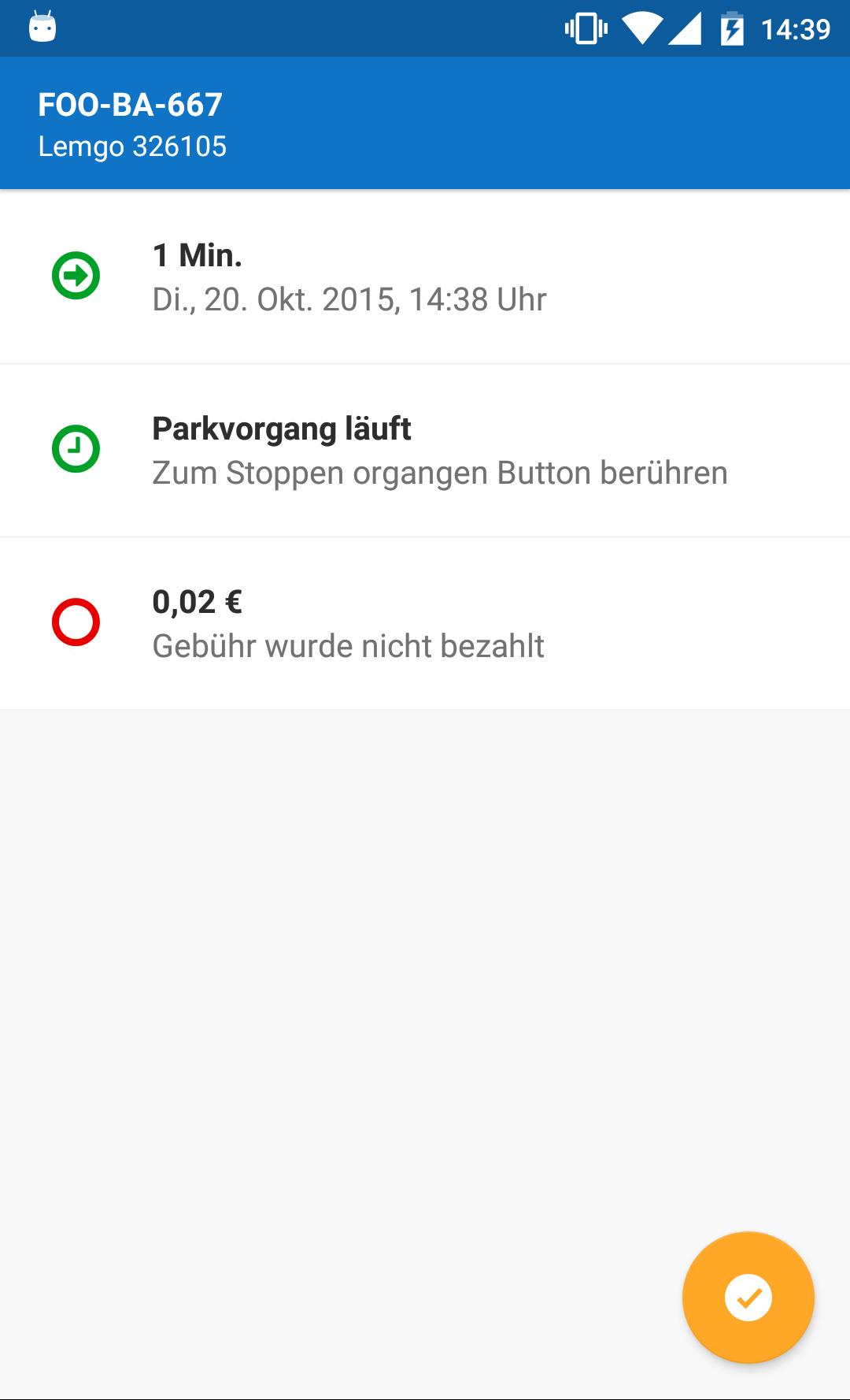 Park-Anwendung Parkfoxx