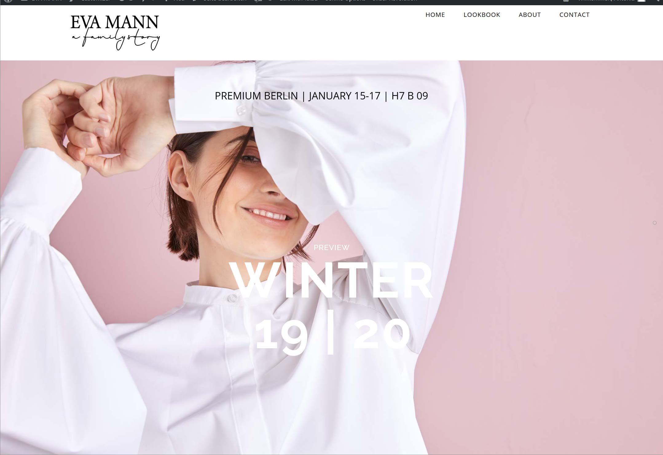 Fashion Website-Entwicklung