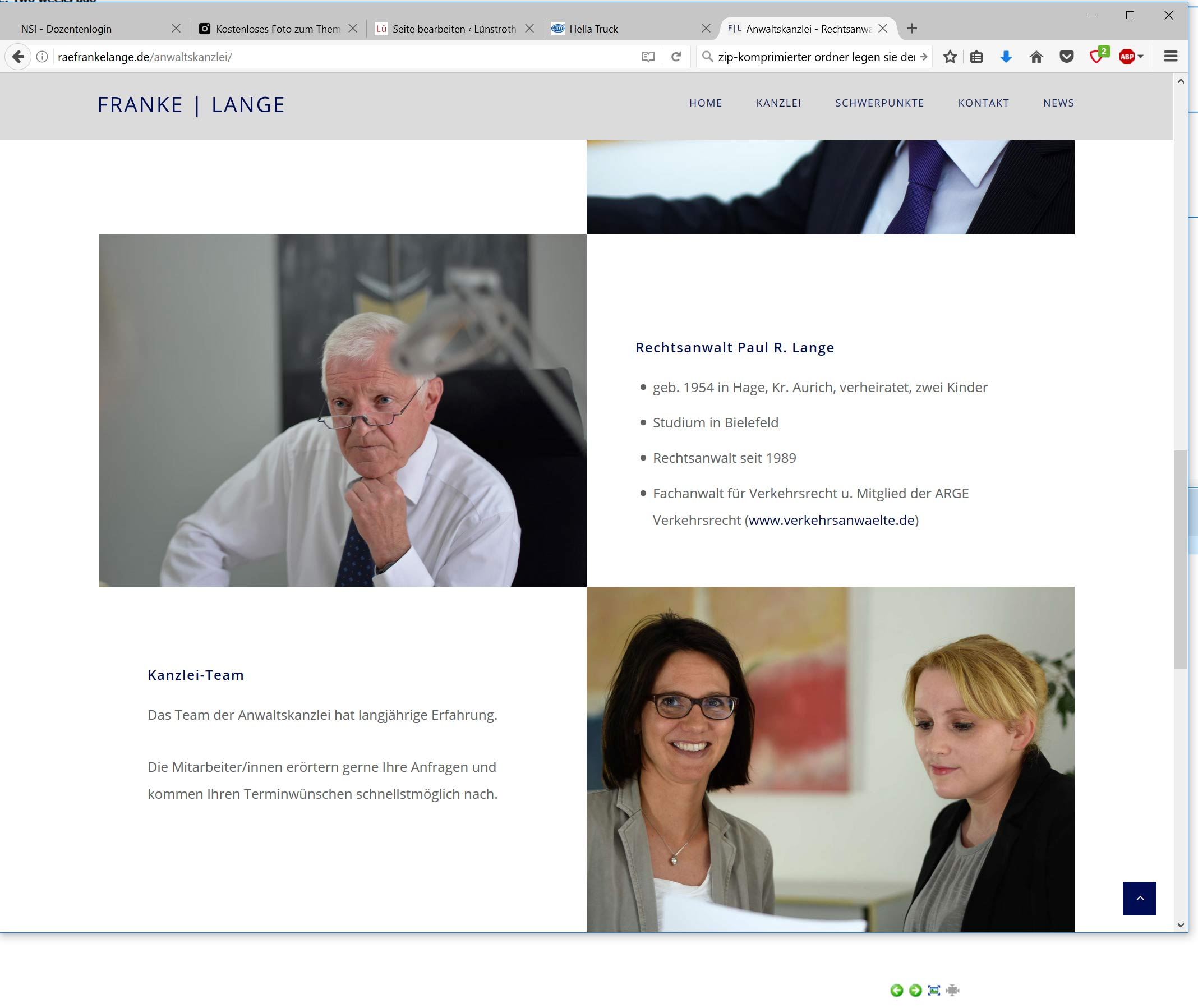 Webdesign Anwaltskanzlei