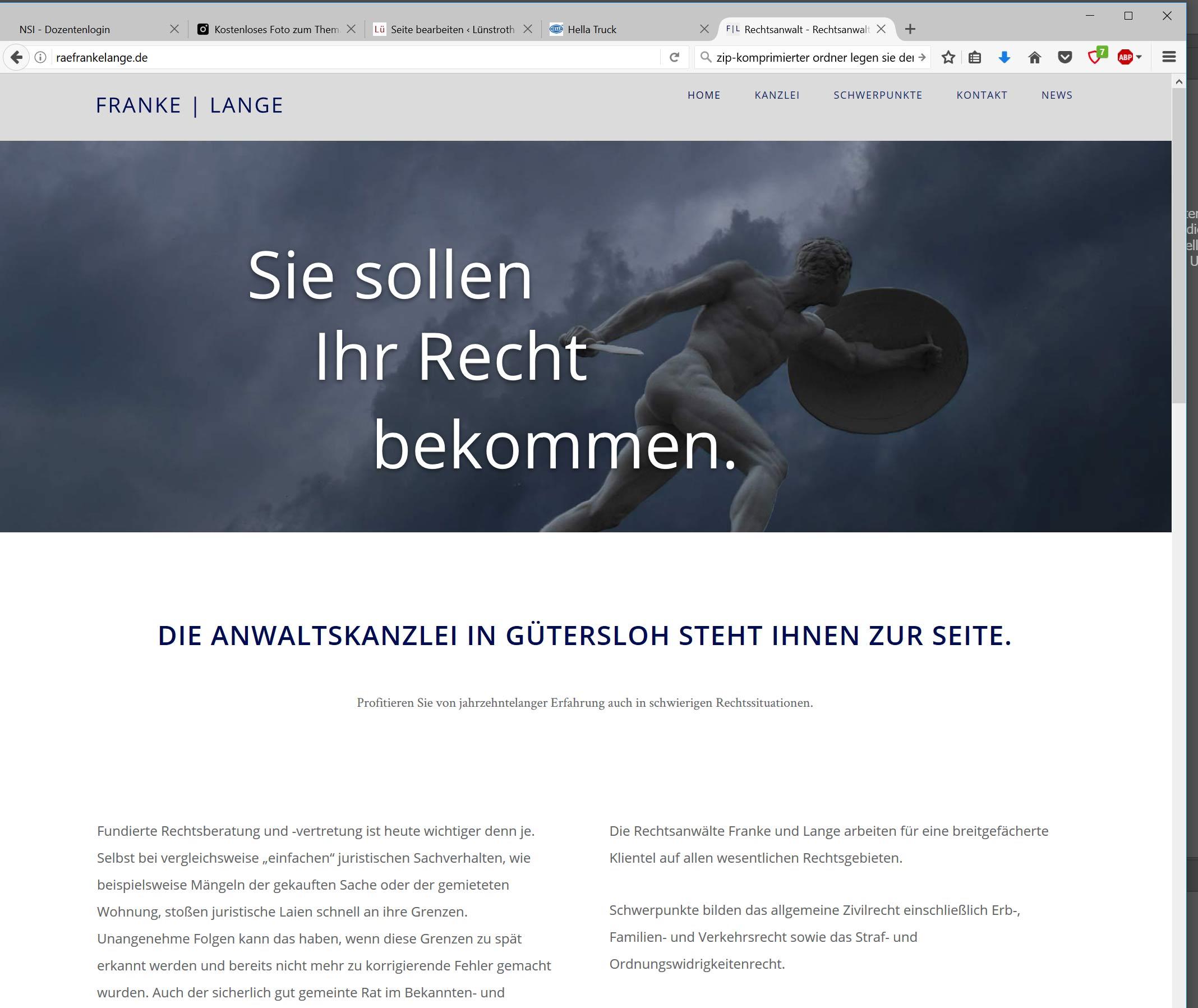 Rechtsanwälte: Website